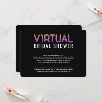 virtual bridal shower rainbow gradient invitation