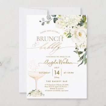 watercolor alabaster roses brunch bubbly invitation