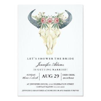 watercolor bohemian roses | bridal shower invitation