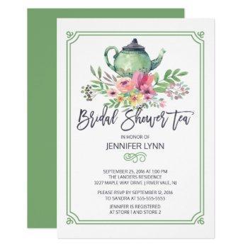 watercolor bridal shower tea wedding shower invite