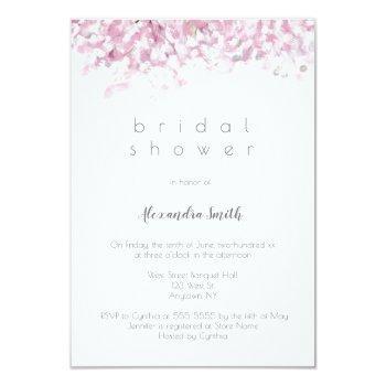watercolor cherry blossom bridal shower invitation