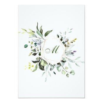 Watercolor Eucalyptus Greenery Bridal  Brunch Invitation Front View