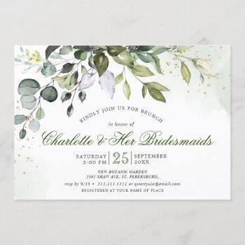 watercolor eucalyptus greenery bridal shower invitation