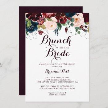 watercolor fall brunch with the bride shower invitation