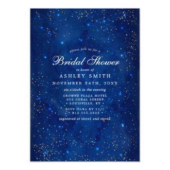 watercolor galaxy cosmic stars bridal shower invitation