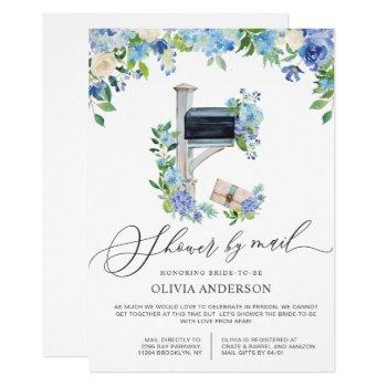 watercolor hydrangea virtual bridal shower by mail invitation