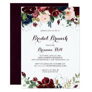 watercolor illustrated bridal brunch bridal shower invitation