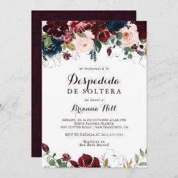 watercolor illustrated fall spanish bridal shower invitation