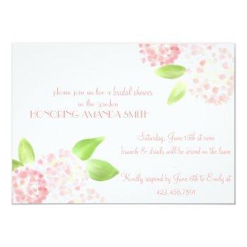 watercolor pink hydrangea invitation
