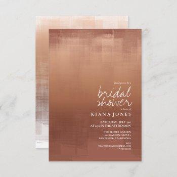 watercolor reflection bridal shower clay id774 invitation