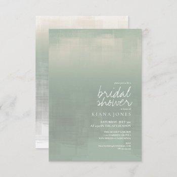 watercolor reflection bridal shower sage id774 invitation