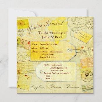 wedding destination  travel  theme invitation