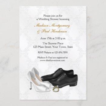 wedding shoes, couple bridal shower invitation