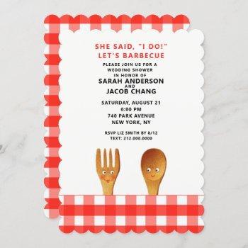 wedding shower bbq invitation
