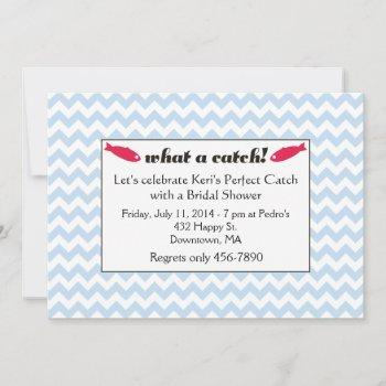 what a catch bridal shower invites