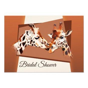 whimsical giraffe bridal shower invitation