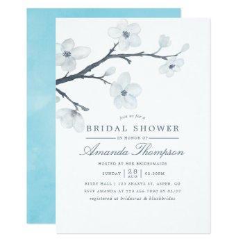 white cherry blossoms bridal shower invitation