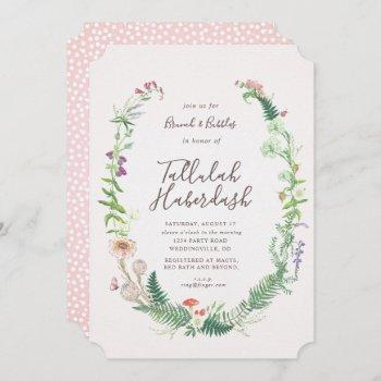 wild flower brunch and bubbly invitation