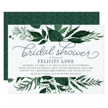 wild forest bridal shower invitation