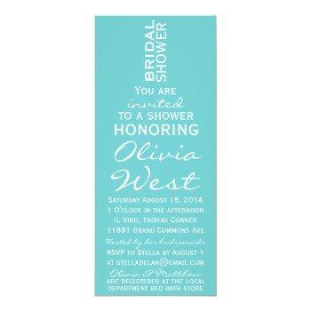 wine bottle bridal shower invite - tiffany blue