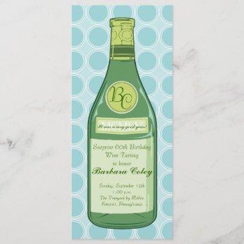 wine bottle rings party & shower invitation