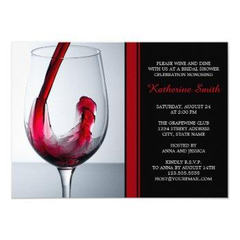 wine glass bridal shower invitations - custom