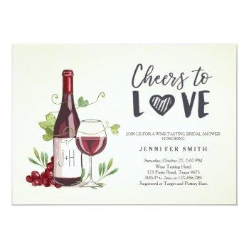 wine tasting bridal shower invite rustic winery