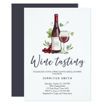 wine tasting bridal shower invite rustic winery