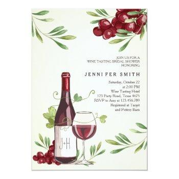 wine tasting shower invitation winery country barn