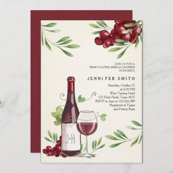 wine tasting shower invitation winery country barn