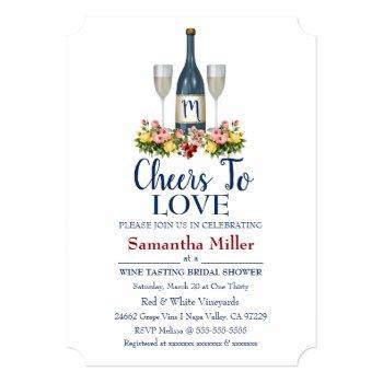 winery or wine bridal shower invitation