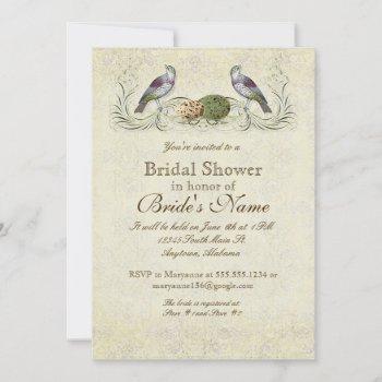 wings of love invitation - bridal shower