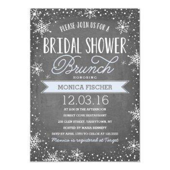 winter bridal shower invitation