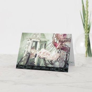 winter vintage pink maschera card