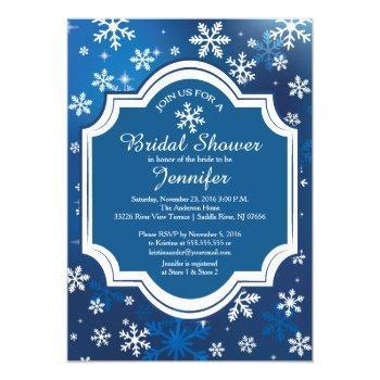 winter wonderland snowflakes bridal shower invitation