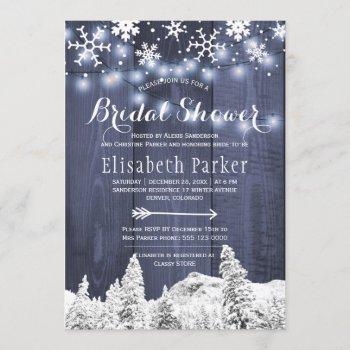 winter wonderland snowing bridal shower invitation