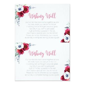 wishing well bridal shower insert card